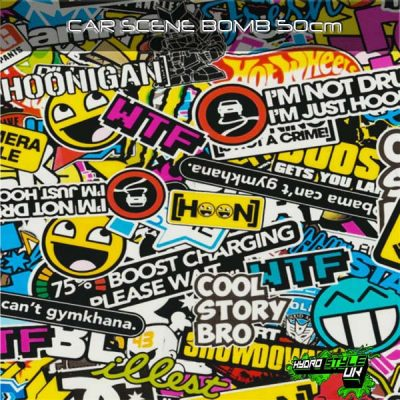 sticker bomb hydrographics film