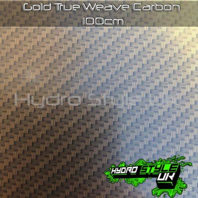 Gold Carbon Hydrographics Film