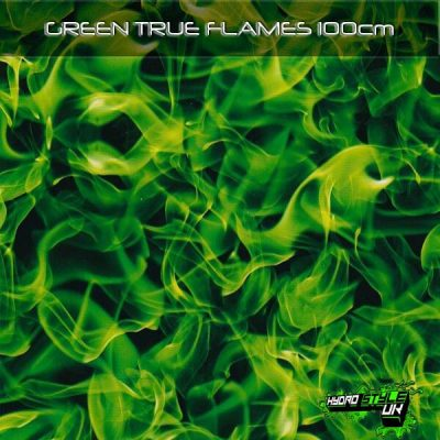 green flames hydrographics film
