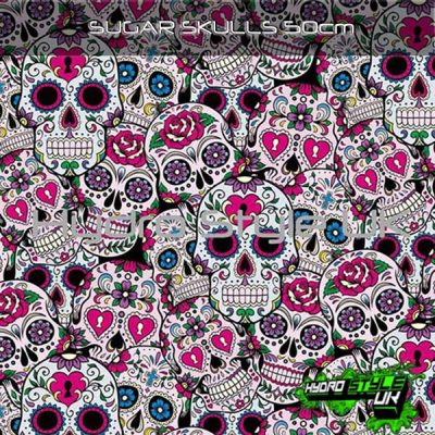 Candy Skulls Hydrographics Film