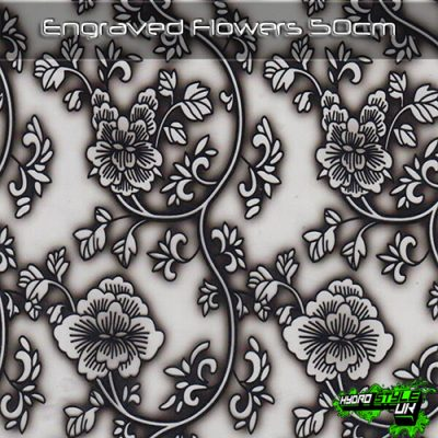 Engraved Flowers Hydrographics Film