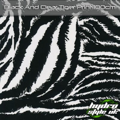 Black and clear tiger hydrographics film