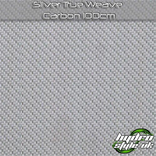 Silver True Weave Carbon Hydrographics Film UK