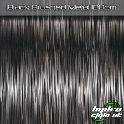 Black Brushed Metal Hydrographics Film