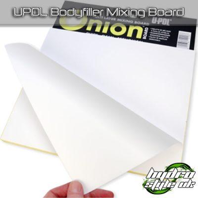 upol onion bodyfiller mixing board
