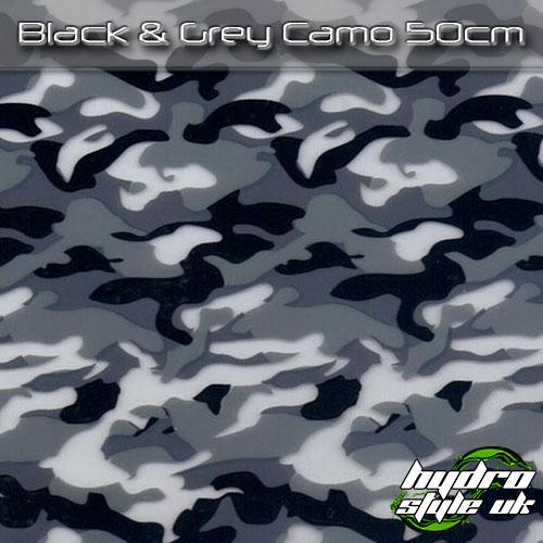 black and grey camo hydrographics film uk