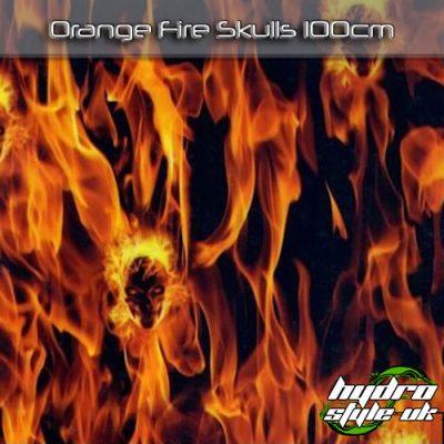 Orange Fire Skulls Hydrographics Film UK