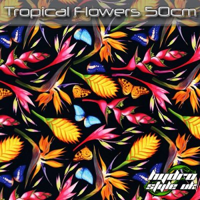 Tropical Flowers Hydrographics film uk