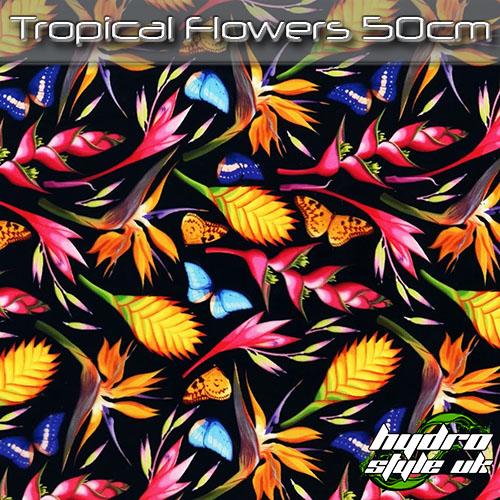 Tropical Flowers Hydrographics film uk