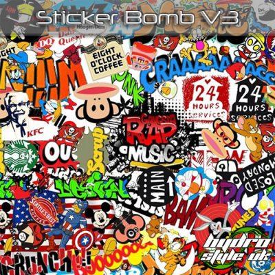 Sticker Bomb V3 Hydrographics film uk
