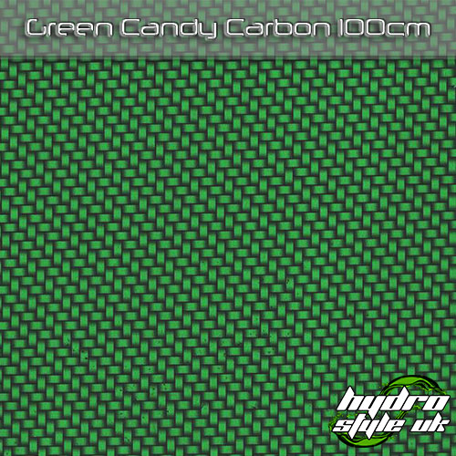Green Candy Carbon Hydrographics Film